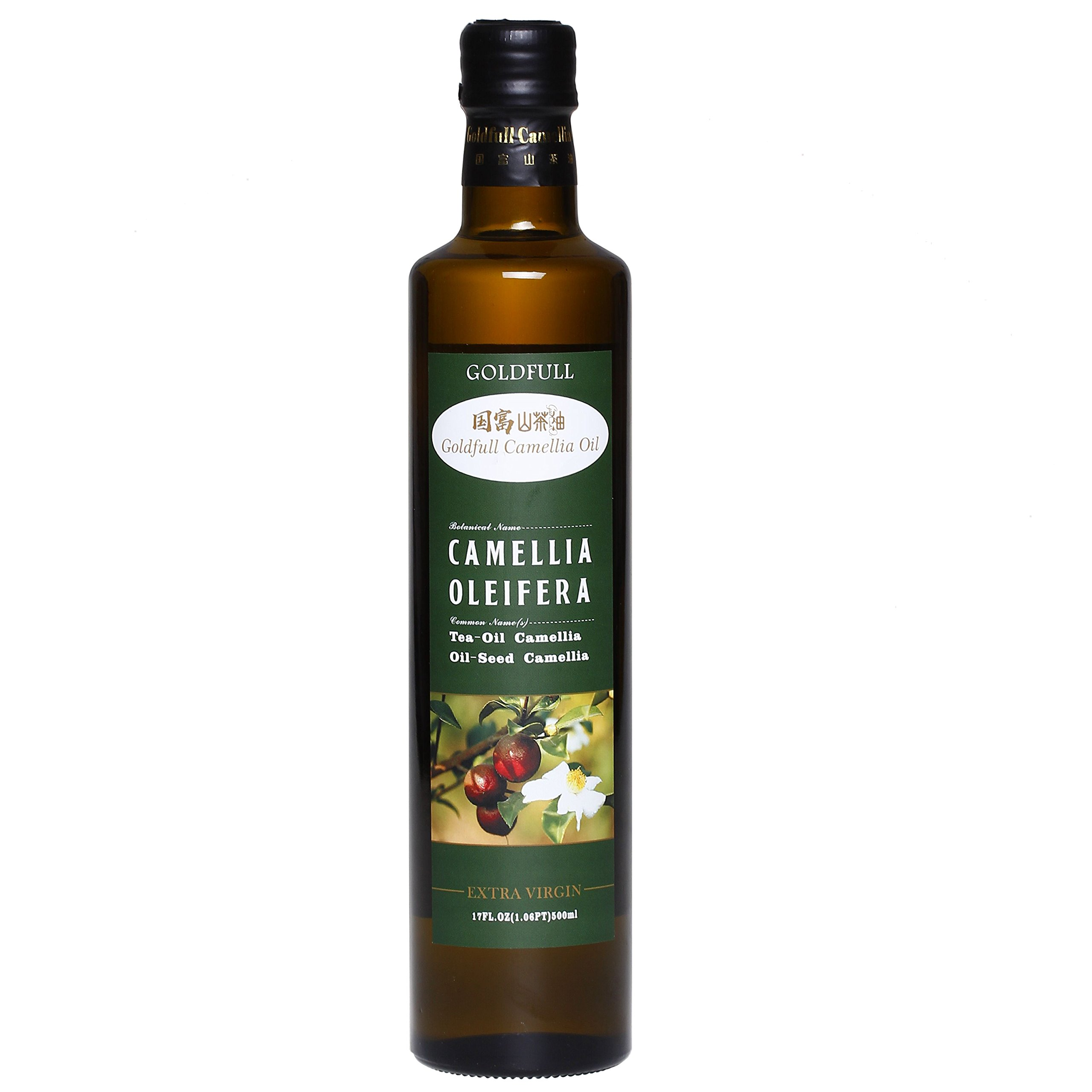 Goldfull Camellia Oil ,Tea Seed Oil,Camellia Seed Oil, Cold Pressed Extra Virgin Cooking Oil ,Camellia Oleifera Oil, Chinese Olive Oil, Natural Flavor, Current Harvest,500ml