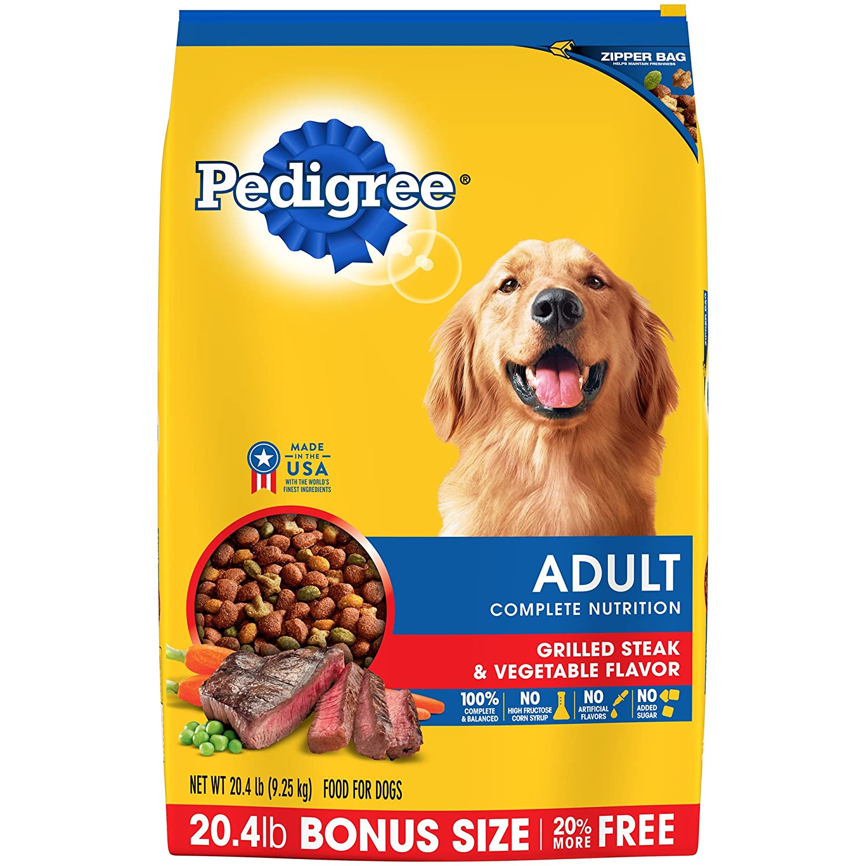 Pedigree Adult Grilled Steak and Vegetable Flavour Dry Dog Food 9.3kg