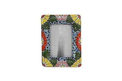 Amazon.com: Picture Frame Ceramic Decor Talavera Home Kitchen Patio ...