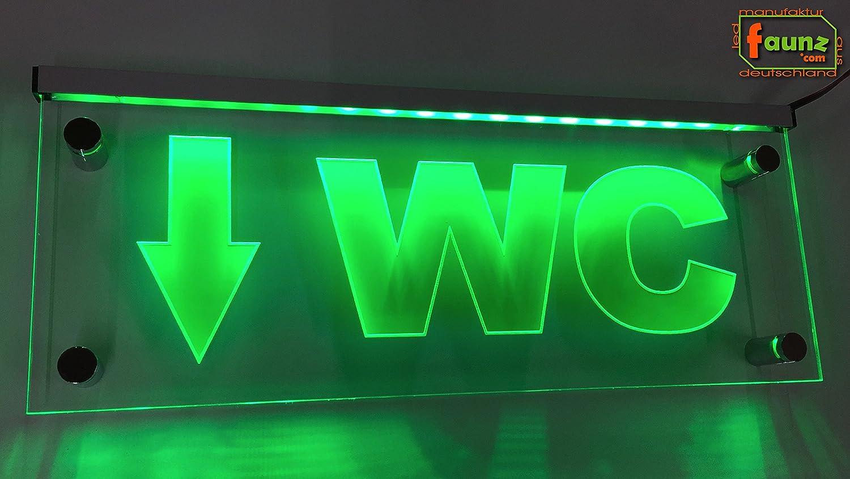 'lampadina LED pittogramma toilette cartello wegweiser Stretta