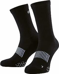 Eono by Amazon - Calcetines deportivos (pack de 3), unisex, color: Negro, tallas: Reino Unido 3-5, EU 35-38: Amazon.es: Equipaje