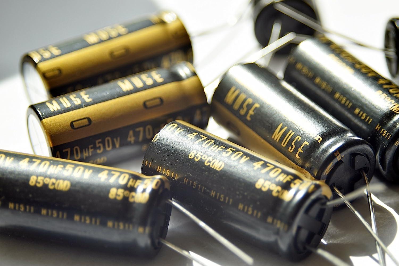 4 pcs Nichicon UKZ2A221MHM MUSE KZ Audio Hi-Fi  220uF 100V  16x35,5  RM7,5  #BP