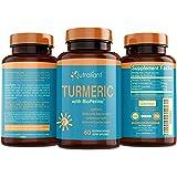 Best Turmeric Curcumin Supplement with BioPerine Black Pepper - Optimum Absorption, 95% Curcuminoids - Anti-Inflammatory & Antioxidant Supplements for Joint Support & Pain Relief - 60 Veggie Capsules