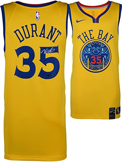 ad264da3552 ... where to buy kevin durant golden state warriors autographed yellow city  edition jersey panini authentic fanatics