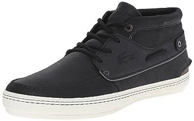 Lacoste Men's Meyssac Deck Fashion Sneaker, Black/Grey, ...