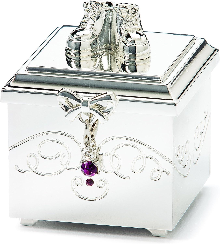 February DEMDACO Birthstone Charm Keepsake Box