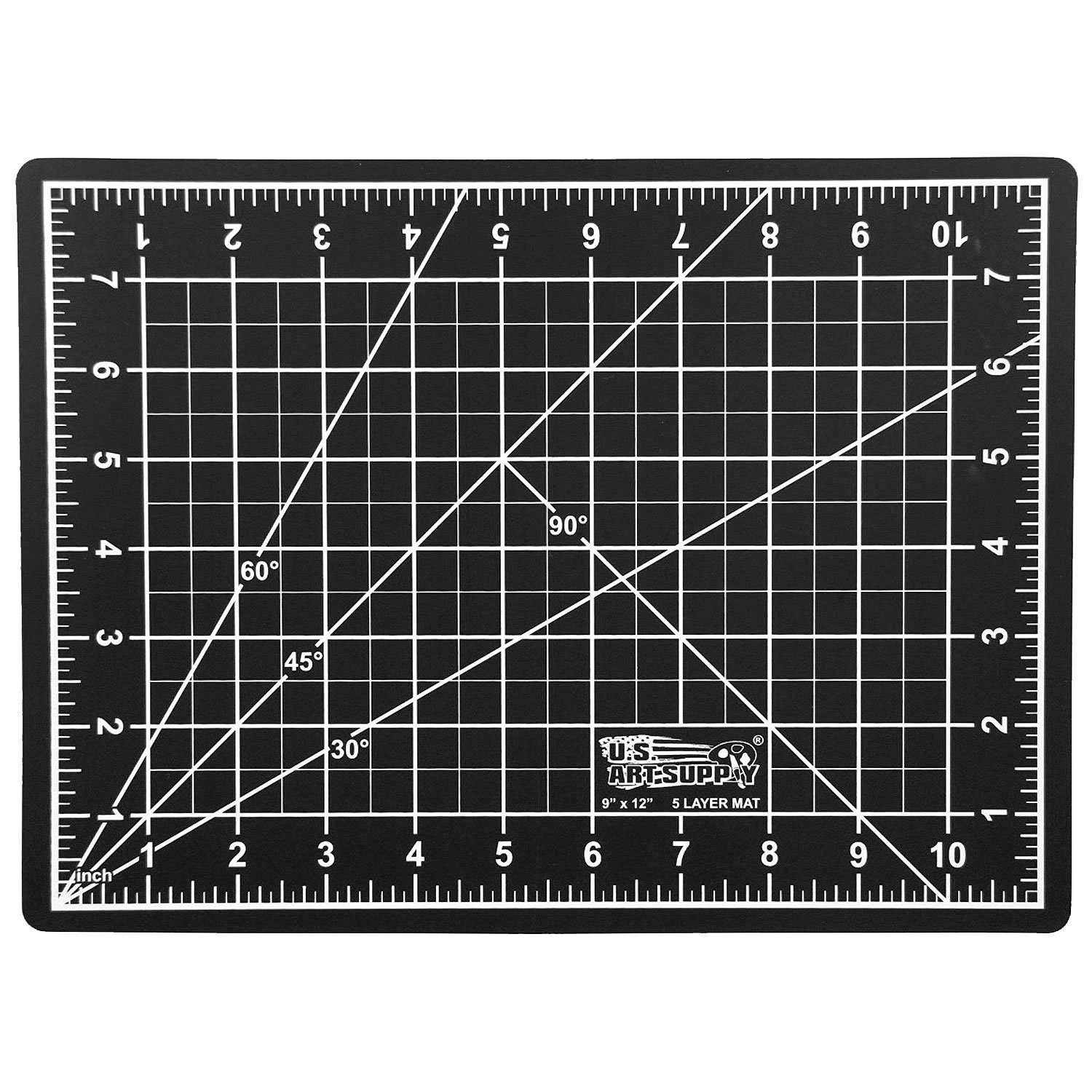 Sewing and all Arts /& Crafts Projects Quilting US Art Supply 9 x 12 GREEN//BLACK Professional Self Healing 5-Ply Double Sided Durable Non-Slip PVC Cutting Mat Great for Scrapbooking