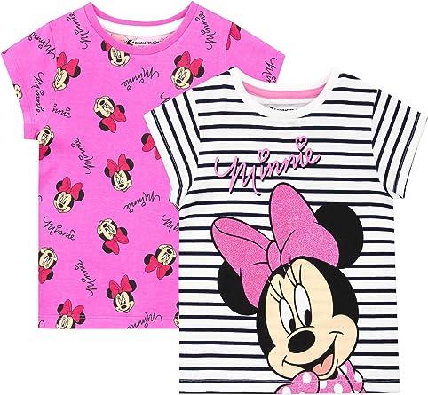 Disney Camiseta de Manga Corta Paquete de 2 para niñas Minnie ...