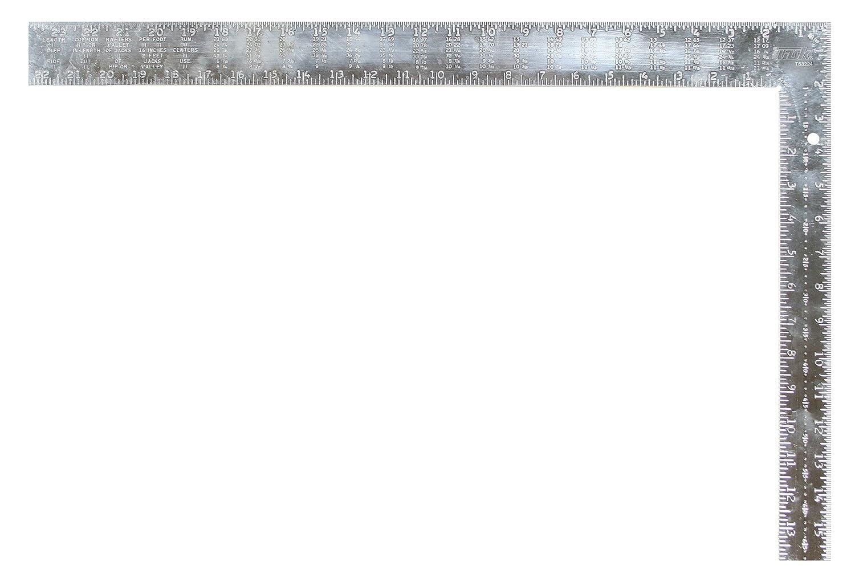 Task Tools T58224 24 Inch Aluminum Utility Square Embossed Markings