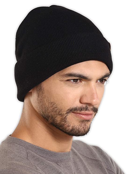 62b4905e6859 Amazon.com: Tough Headwear Merino Wool Cuff Beanie Watch Cap - Warm, Soft &  Stretchy Knit Hats for Men & Women - Skull Cap for Daily Use - Winter  Toboggans ...
