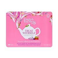 English Tea Shop Organic Tea Collection Pink Tin, 36 Teabags