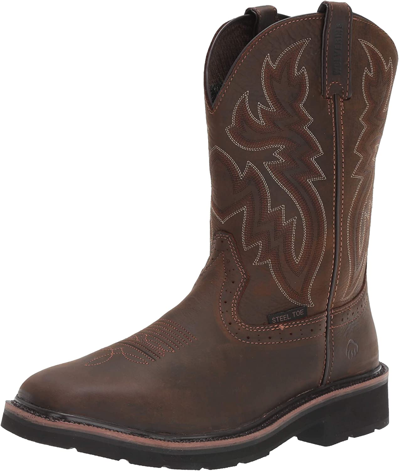 """Wolverine Men's Rancher 10"""" Square Toe Steel Toe Work Boot: Shoes"""