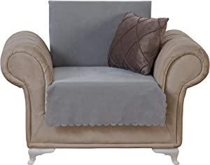 Chiara Rose Couch Covers for Dogs Sofa Cushion Slipcover 3 Seater Furniture Protectors Futon Cover, Armchair, Diamond Grey
