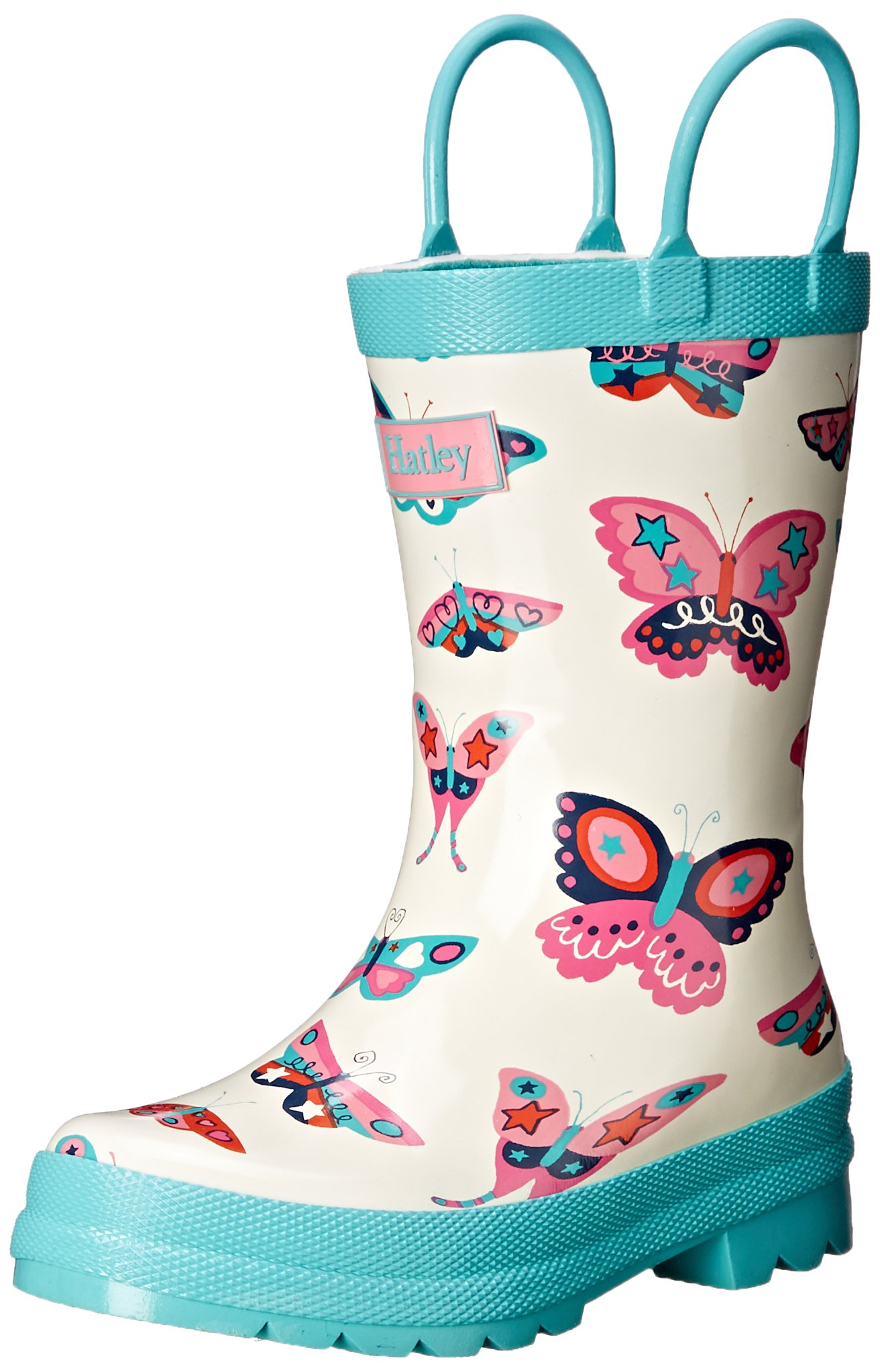 Hatley Girls' Strawberry Sundae Rainboots, White, 13 Little Kid