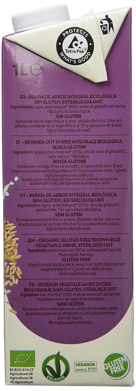 Vivibio, Bebida de arroz - 6 de 1000 ml. (Total 6000 ml.): Amazon.es: Alimentación y bebidas