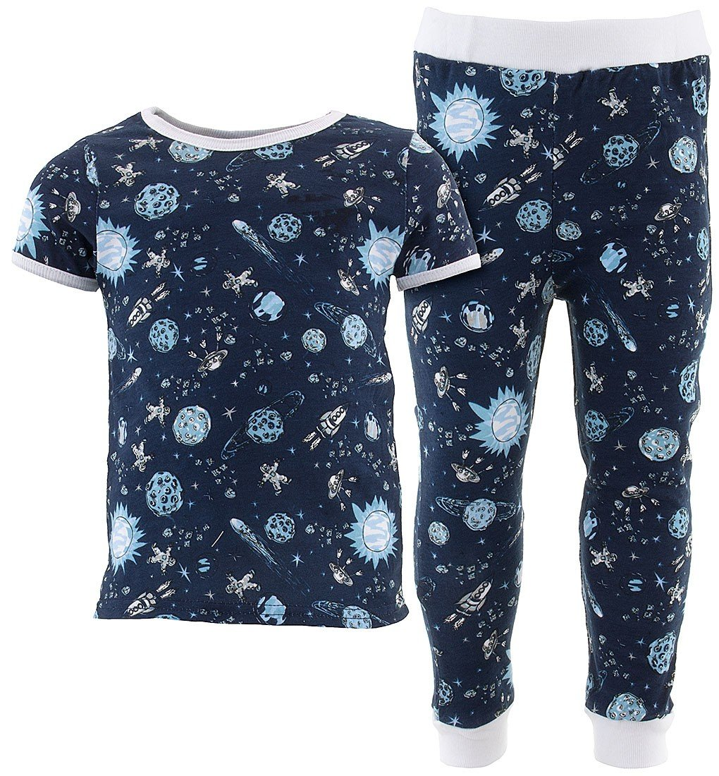 Sweet & Soft Little Boys' Navy Comets Cotton Pajamas 4T