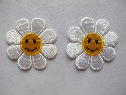 Amazon daisy flower embroidery applique patch mh