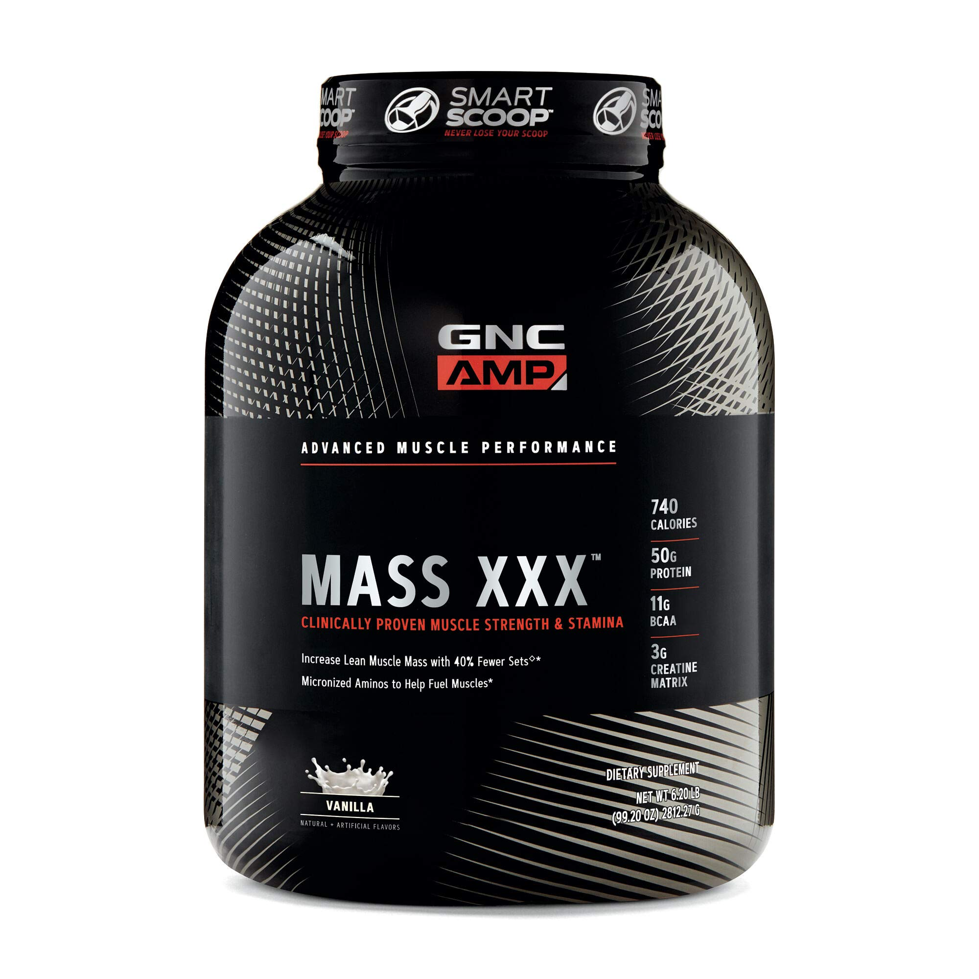 GNC AMP Mass XXX, Vanilla, 6.2 lbs, Supports Muscle Protein Synthesis by GNC