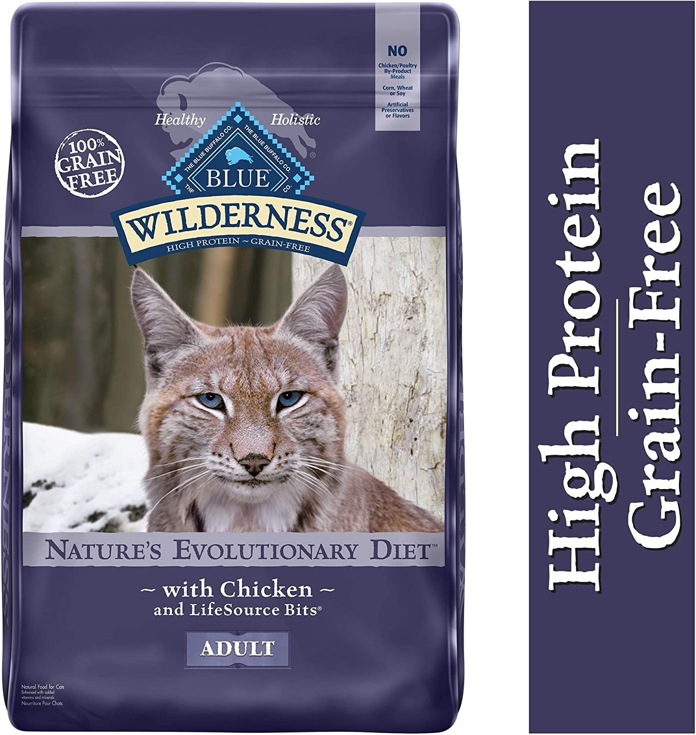 Blue Buffalo Wilderness High Protein Natural Adult Dry Cat Food Featured Image