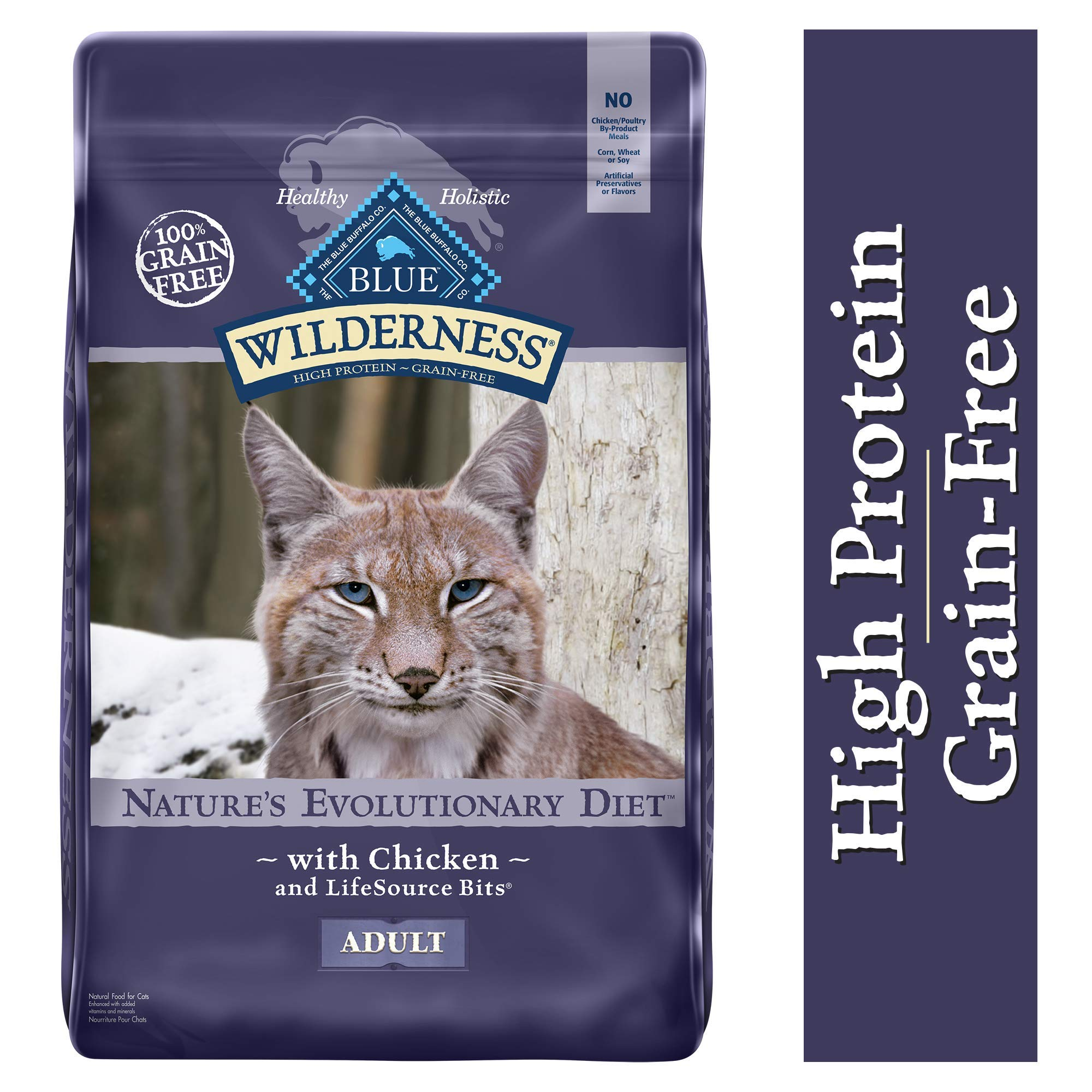 Blue Buffalo Wilderness High Protein Grain Free, Natural Adult Dry Cat Food, Chicken 12-lb by Blue Buffalo