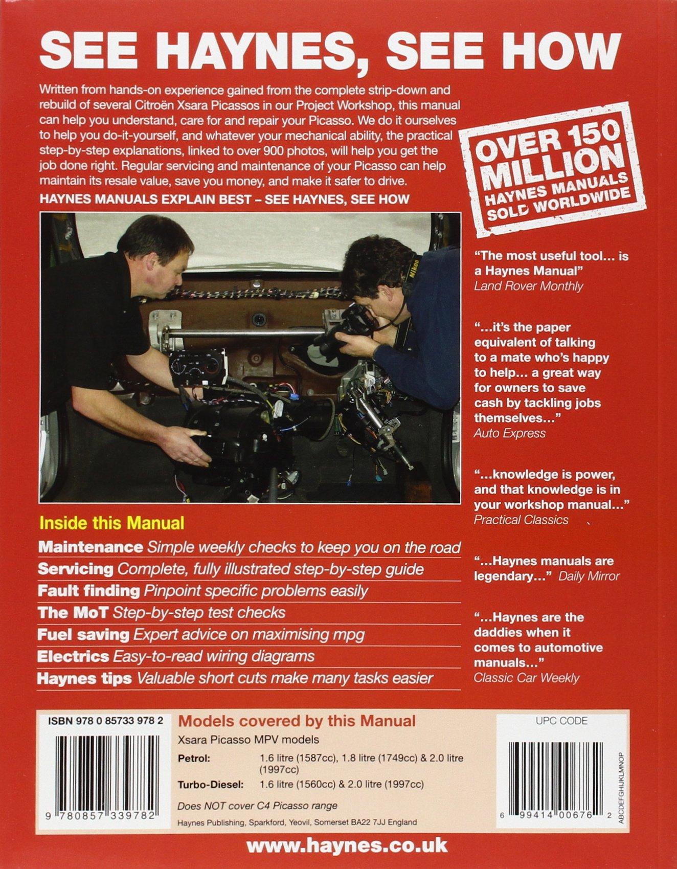 Citroen Xsara Picasso Petrol & Diesel (Mar 04 - 08) Haynes Repair Manual:  Amazon.co.uk: Anon: 9780857339782: Books