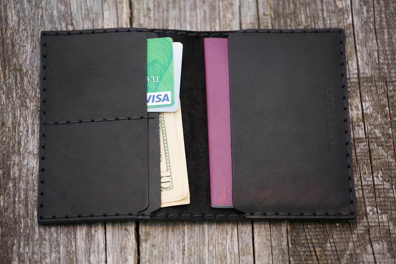 Personalisierte schwarz Reisepasshü lle, Kartenhü lle Geldbö rse Portemonnaie, langlebige Aufbewahrung von ID, Kreditkarten und Banknoten mit Prä gung Gravur, Passport Hü lle, Kartenhalter