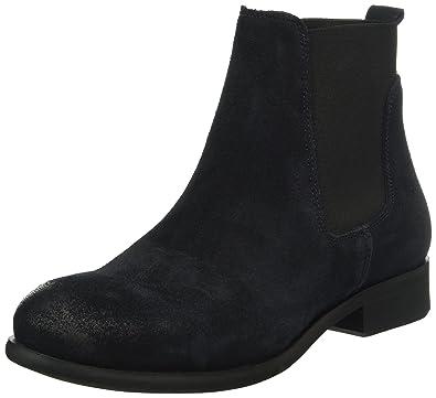 Womens Psizi Suede Blazer Chelsea Boots, Navy Pieces