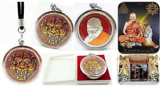 Pendant Tiger LP Pern Phra Monk Thai Talisman Yant Wat Bang  Amulet Protect life