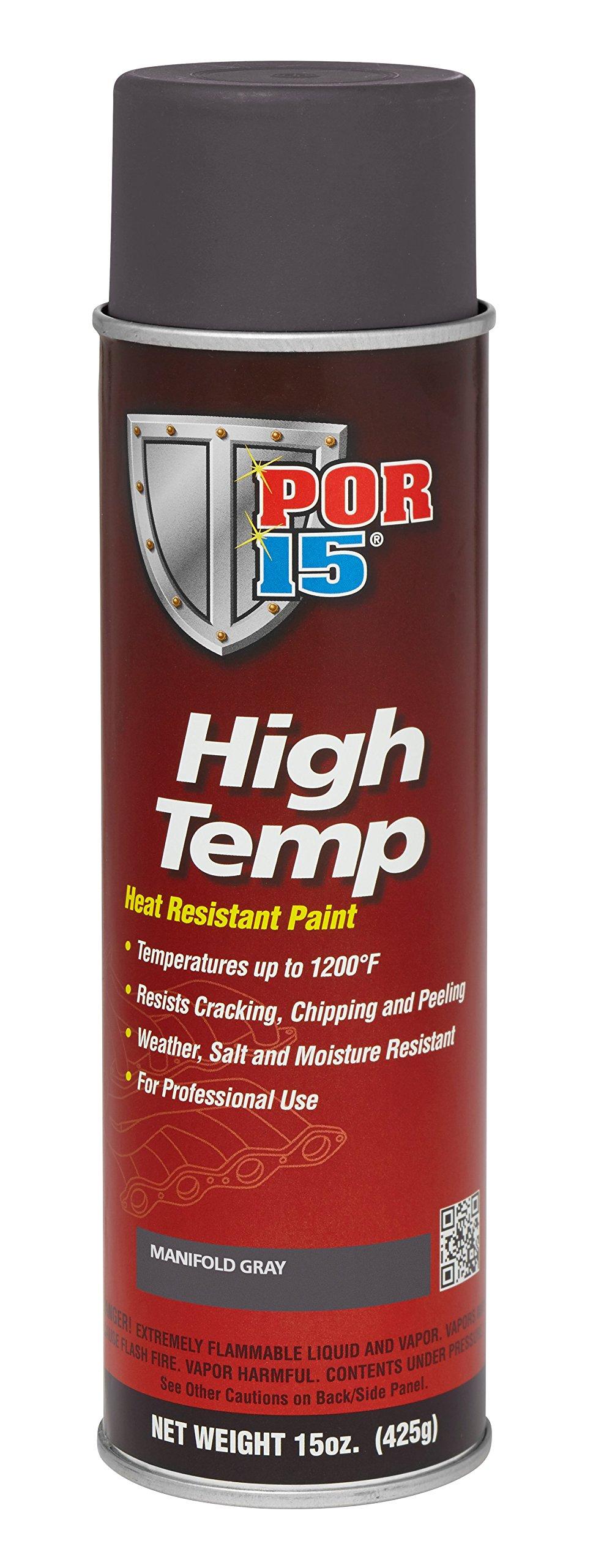 POR-15 44218 Gray High Temperature Paint Manifold - 15 fl. oz.