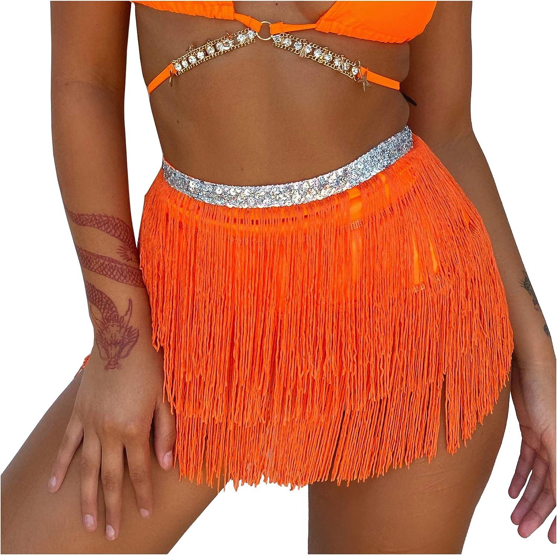 Wuchieal Belly Dance Costume Hip Scarf Belt Tribal Fringe Tassel wrap Belt