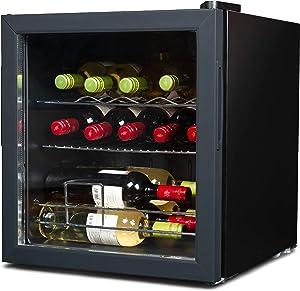 BLACK+DECKER BD61516 Wine cellar, Black Cabinet with Gray Door Trim