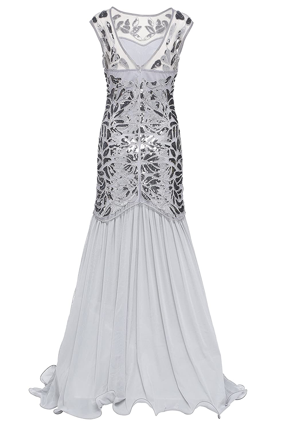 BABEYOND 1920s Art Deco Flapper Dress Long Embellished Sequin Beaded Party Dress for Women 20s Vintage Great Gatsby Dress: Amazon.co.uk: Clothing