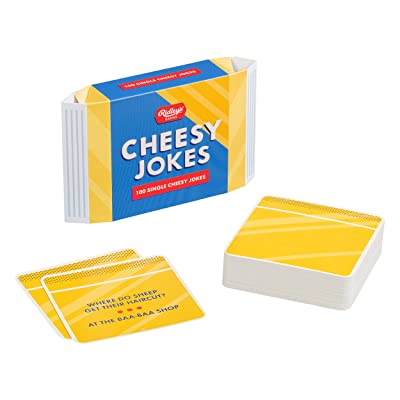 Ridley's Games 100 Single Cheesy Joke Cards for Adults and Kids: Toys & Games