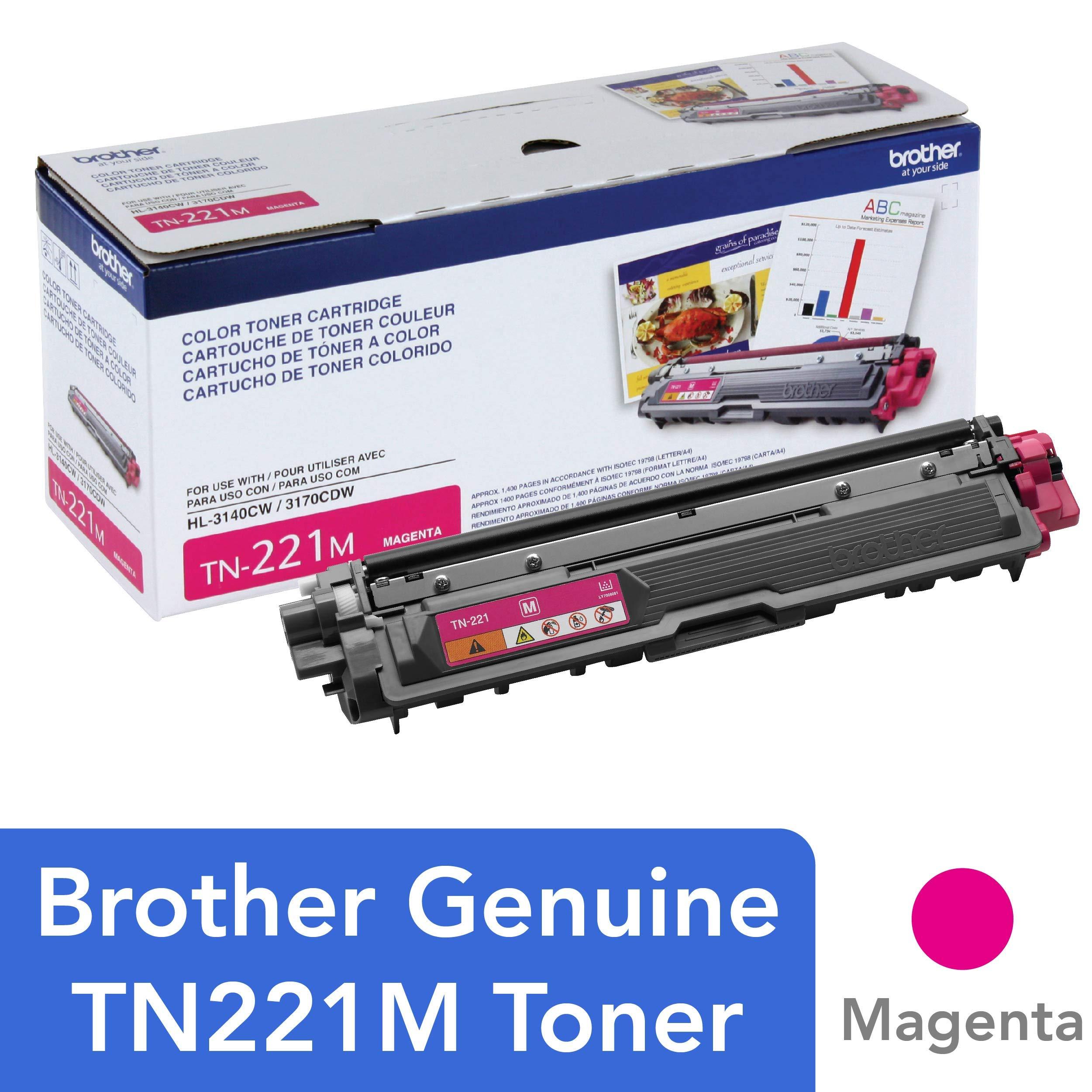 Toner Original BROTHER TN-221M DCP-9015 9020 HL-3140 3150 3170 3180 MFC-9130 9140 9330 9340 (Magenta)