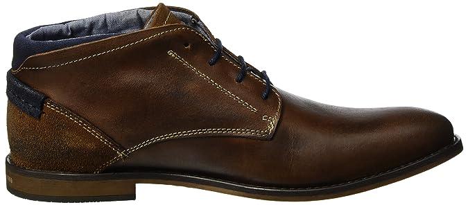 15101, Zapatos de Cordones Oxford Para Hombre, Marrón (Cognac 305), 41 EU s.Oliver