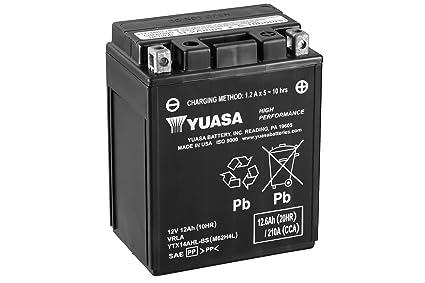 YUASA BATERIA YTX14AHL-BS AGM abierto - con paquete de ácido ...