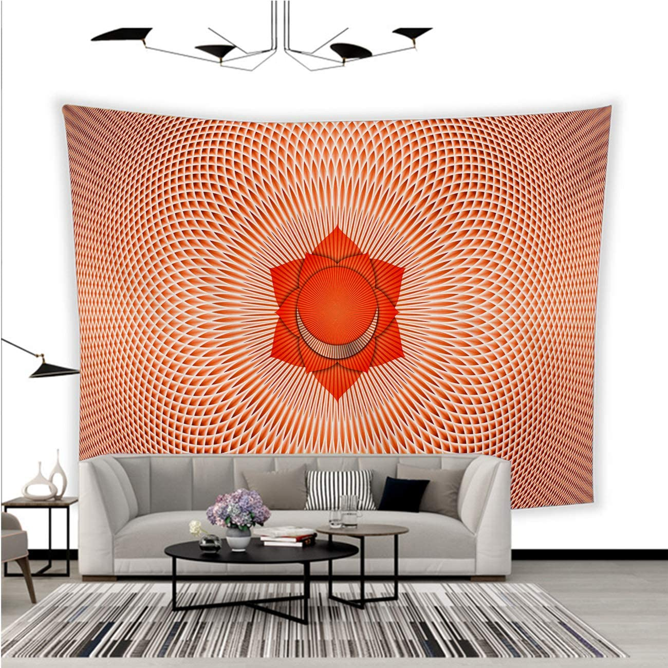 BEISISS Creative Tapestry Custom Wall Tapestry Orange Chakras Energy Center Yoga Chakra sacralchakra Solar Plexus Heart Chakra Throat Fabric Wall Hanging for Bedroom Living Room Dorm-80x70in