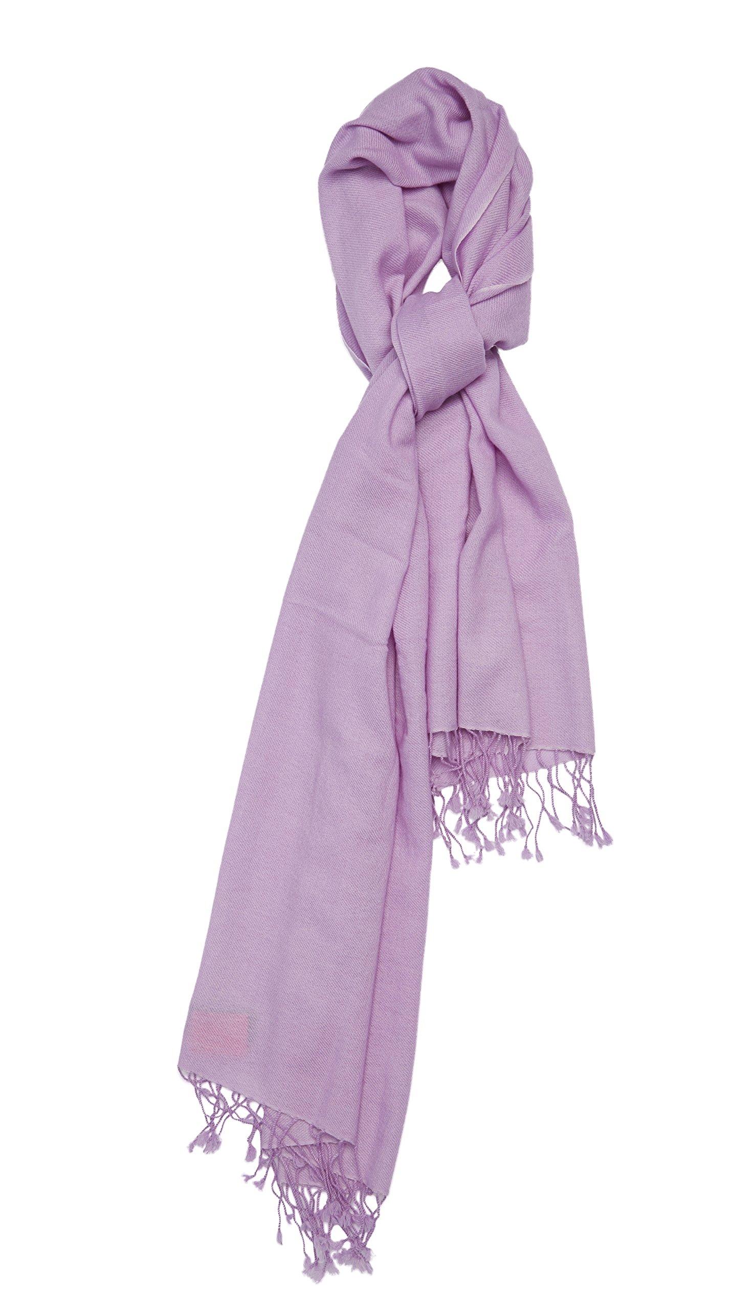 Pure Cashmere Shawl (Faded Lilac)
