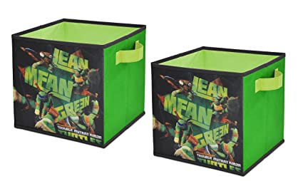 Nickelodeon Teenage Mutant Ninja Turtles Storage Cubes Set of 2 10-Inch  sc 1 st  Amazon.com & Amazon.com: Nickelodeon Teenage Mutant Ninja Turtles Storage Cubes ...