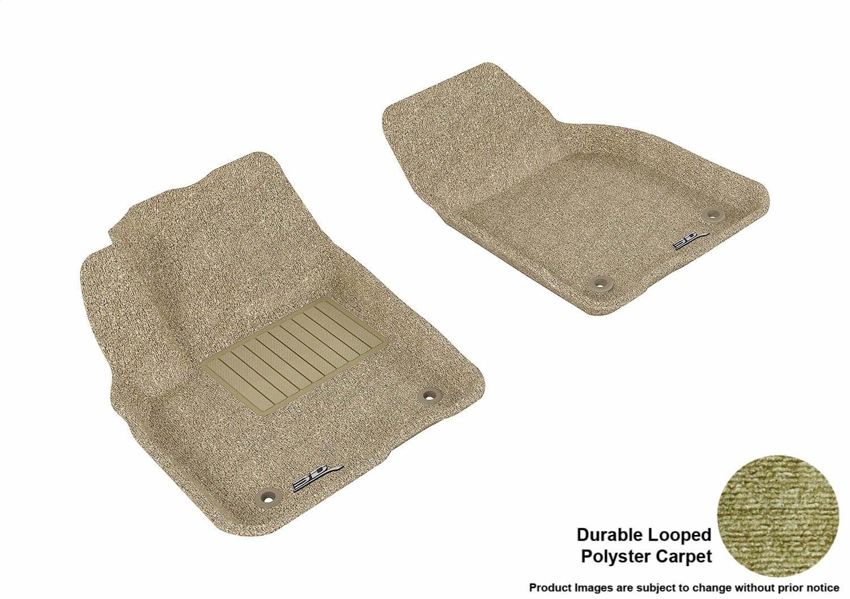 Gray L1VV00712201 Classic Carpet 3D MAXpider Front Row Custom Fit Floor Mat for Select Volvo C30 Models