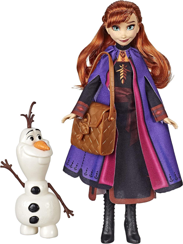 Anna Bambola Fashion con Vestito da Viaggio,Accessori per Bambini Disney Frozen