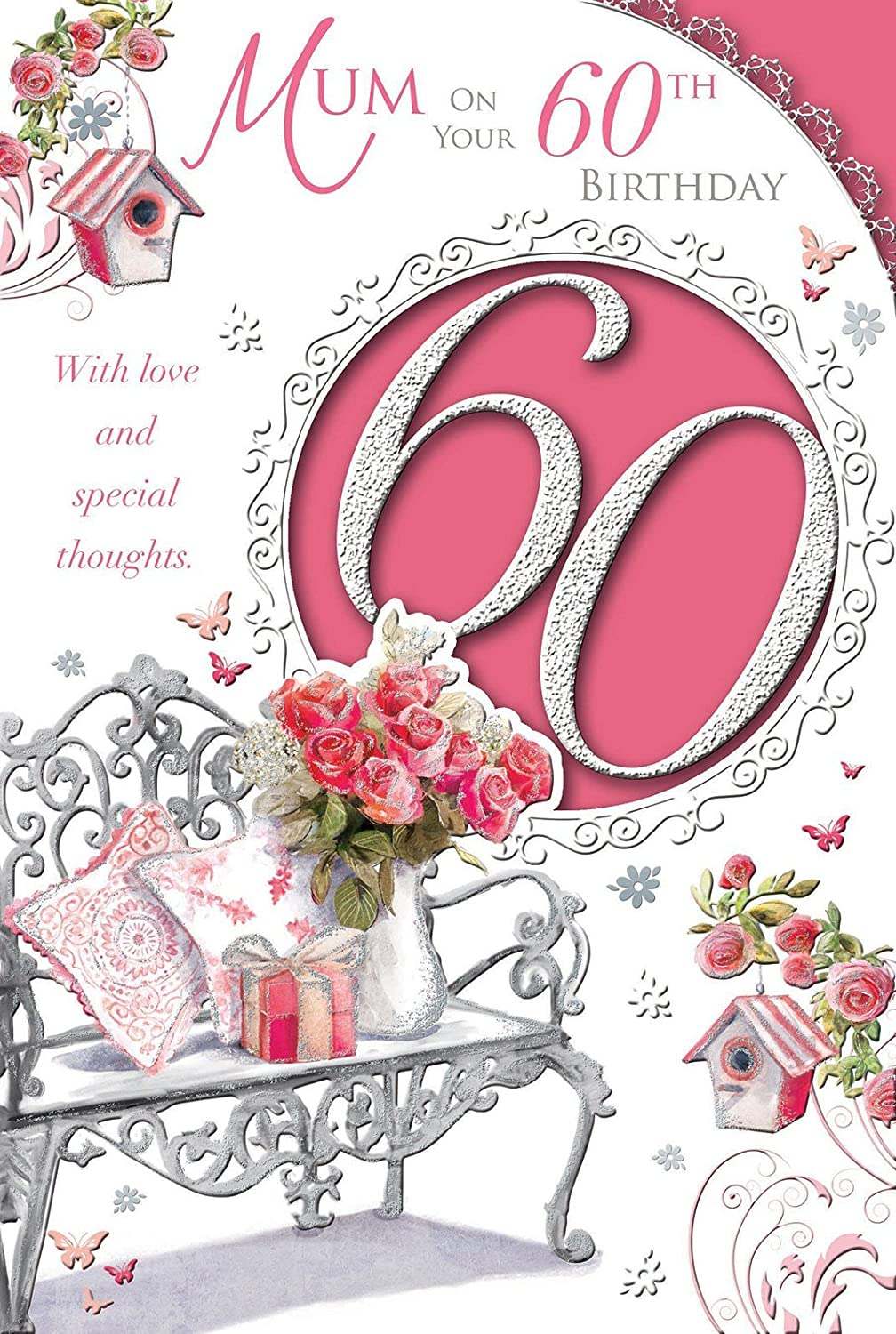 Special Nana 60th Birthday Card Amazoncouk Kitchen Home – Happy 60th Birthday Cards