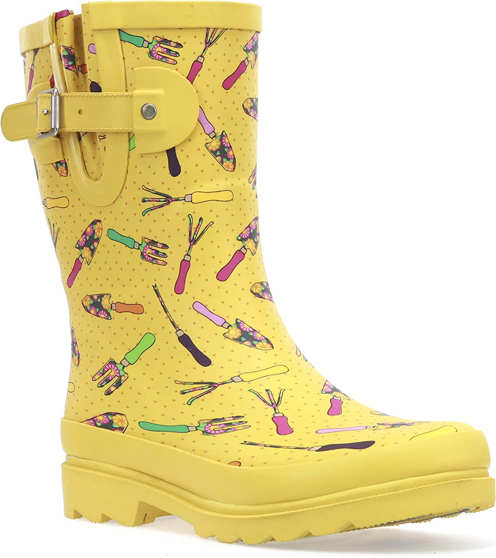 Western Chief Women's Waterproof Mid Rain Boot Shoe
