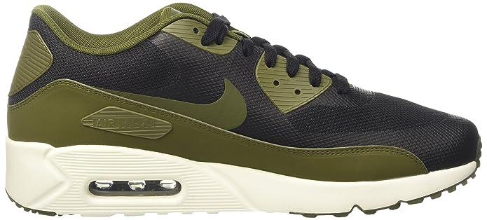 Nike Air Max 90 Ultra 2.0 Essential, BlackLegion Green Sail, Men's 875695 004 (12)