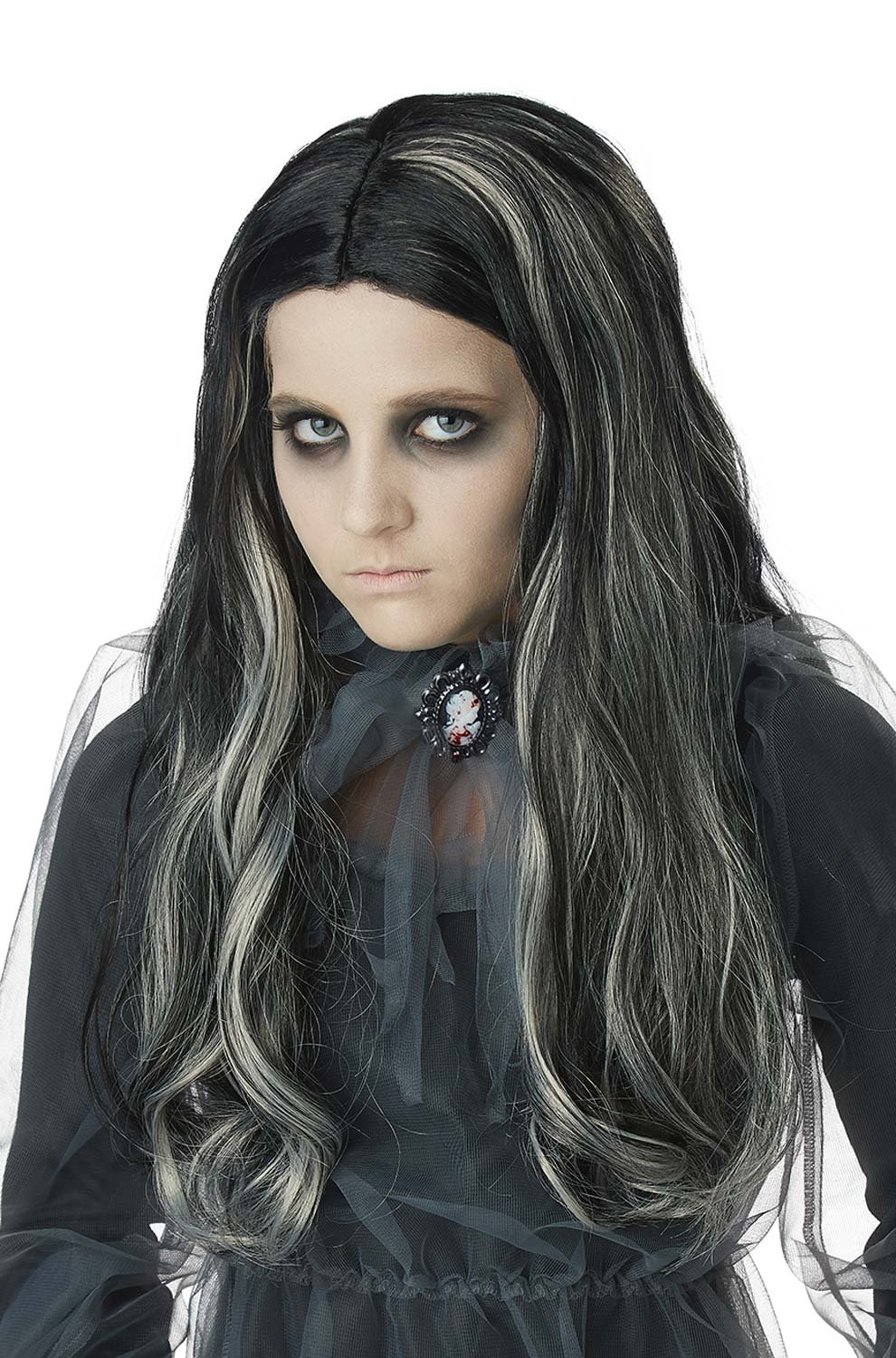 California Costumes Bloody Mary Girl Wig Children Wig, Black by California Costumes