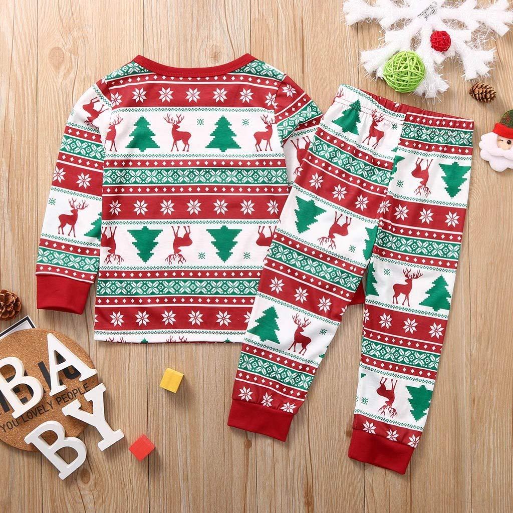 Bumplebee Weihnachten Familie Outfit Set Matching Weihnachtspyjama Familie Set Weihnachtsbaum Drucken Langarm Bluse und Hosen Eltern Kind Kleidung M/änner Kinder Baby Damen