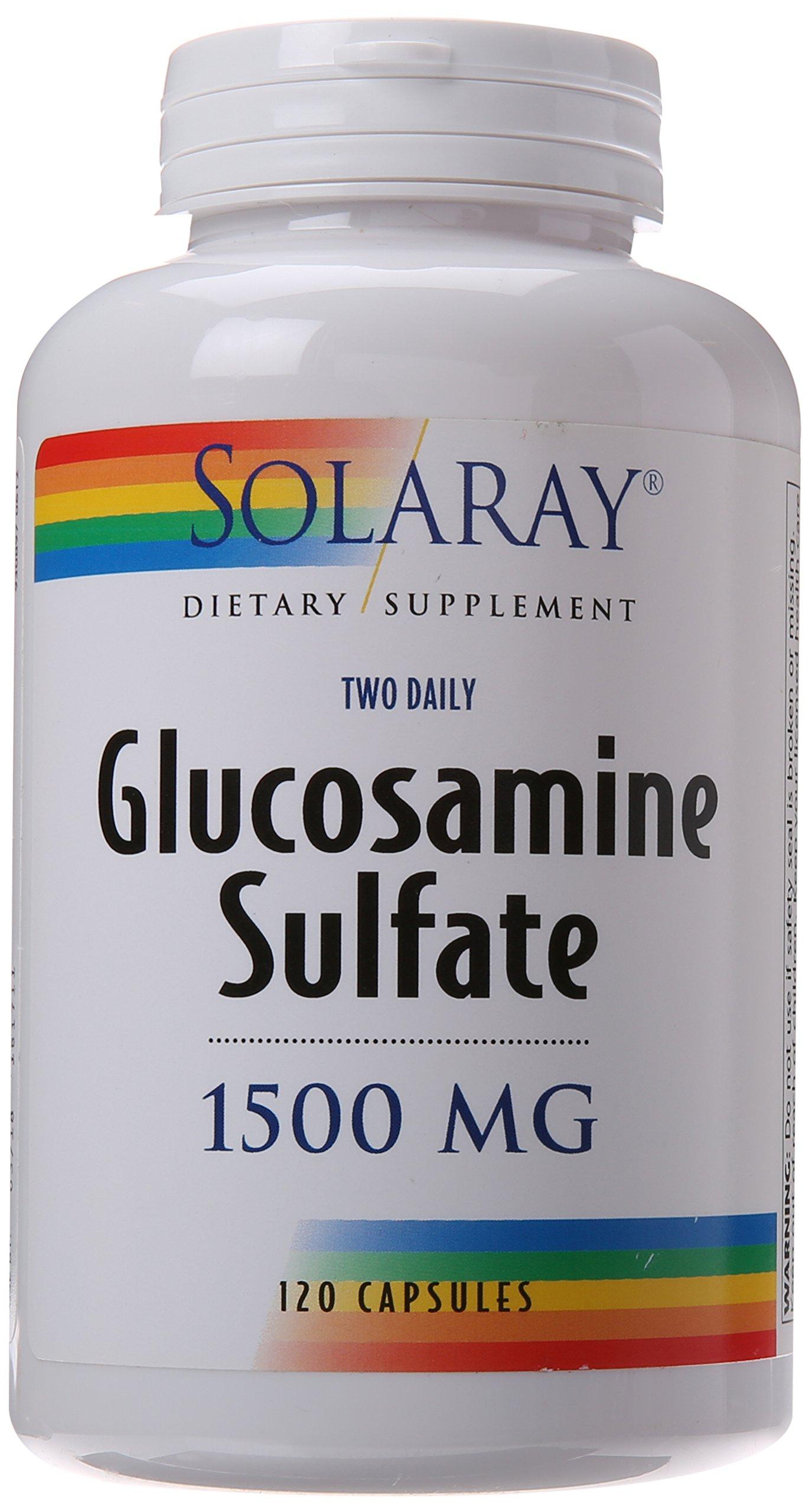 Solaray Glucosamine Sulfate Capsules, 1500mg, 120 Count