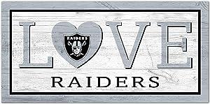 Fan Creations NFL Las Vegas Raiders Unisex Oakland Raiders Love Sign, Team Color, 6 x 12
