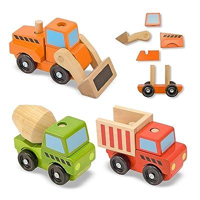 Melissa & Doug Stacking Construction Vehicles: Melissa & Doug: Toys & Games