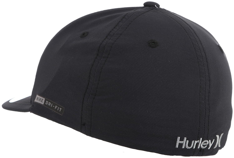 size 40 f0a3c eb6ac Amazon.com  HURLEY Dri-FIT Outline 2.0 Mens Hat, Black, S M  Clothing